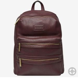 The Honest Company Faux Leather Diaper Backpack